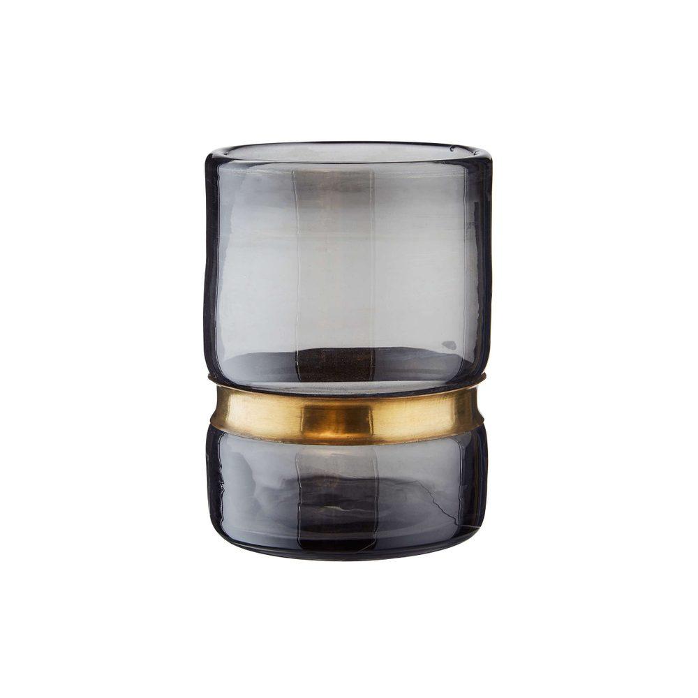GRACE Svietnik na čajovú sviečku 12,5 cm - šedá