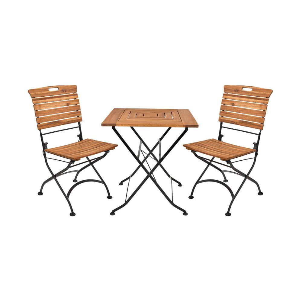 GARDEN STATE Set záhradného nábytku pre 2 osoby - hnedá/čierna