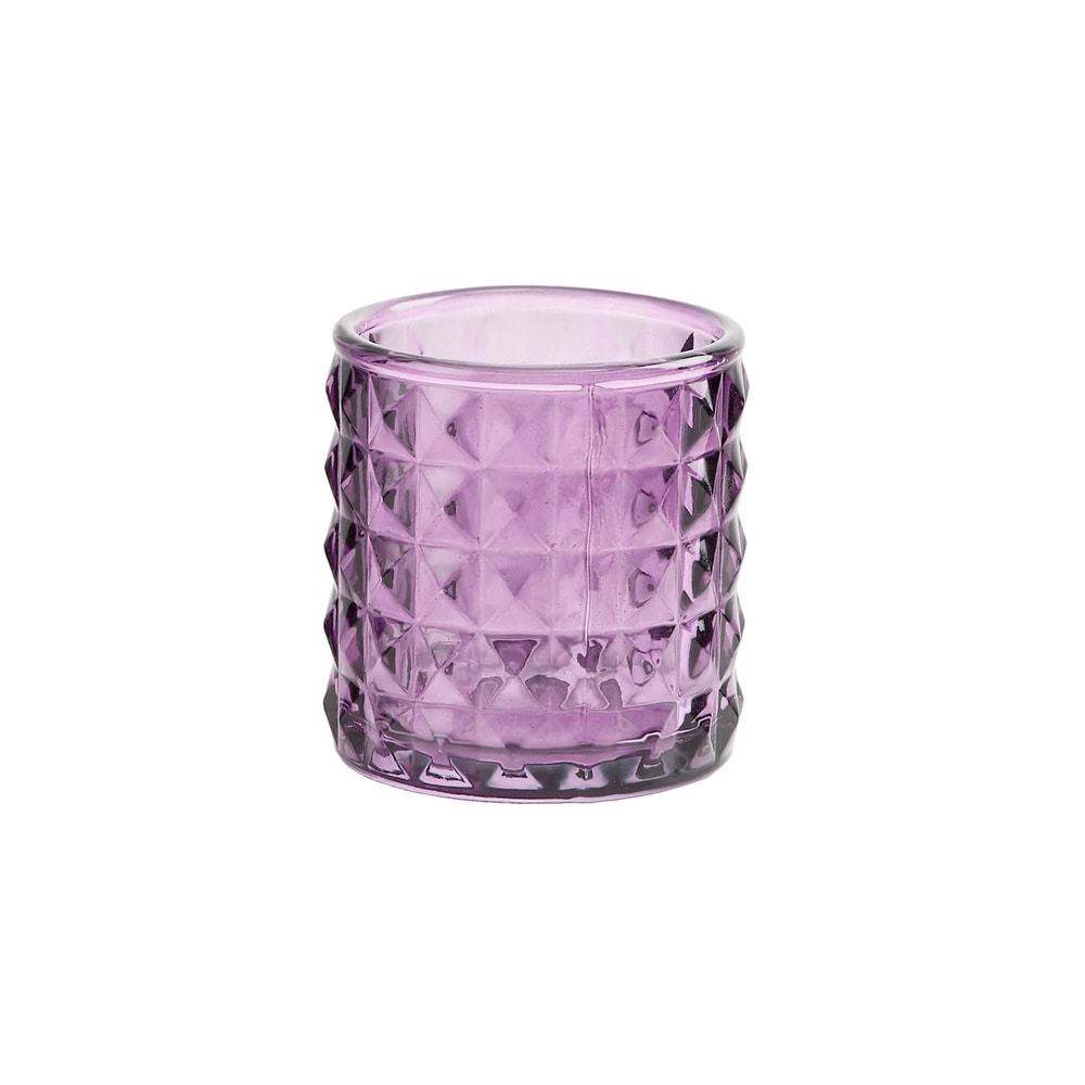 DELIGHT Svietnik na čajovú sviečku 7,5 cm - sv. fialová