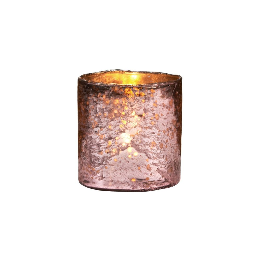 DELIGHT Sklenený votívny svietnik 8 cm - ružová