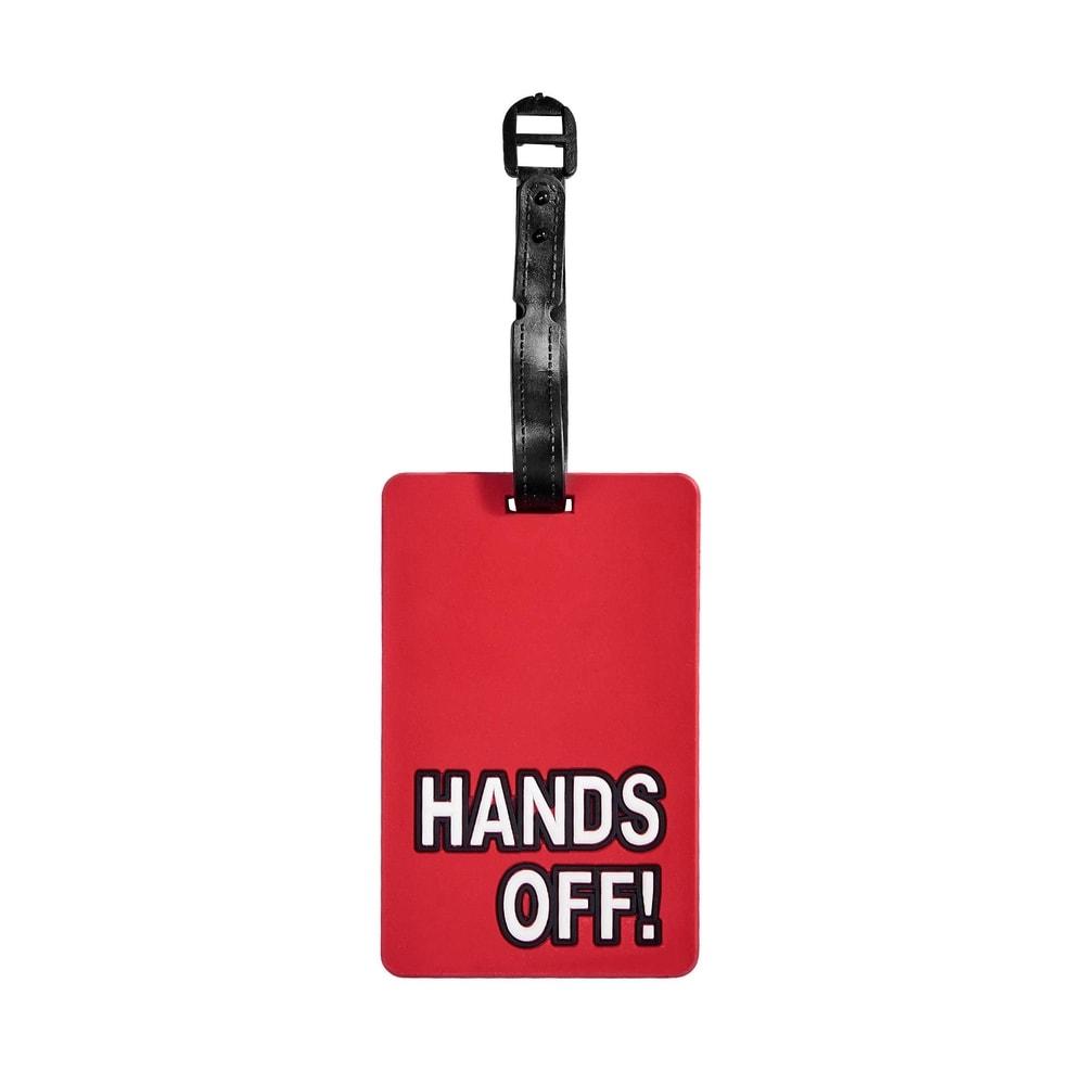 "TAG YOUR BAG Menovka na kufor ""Hands Off"""