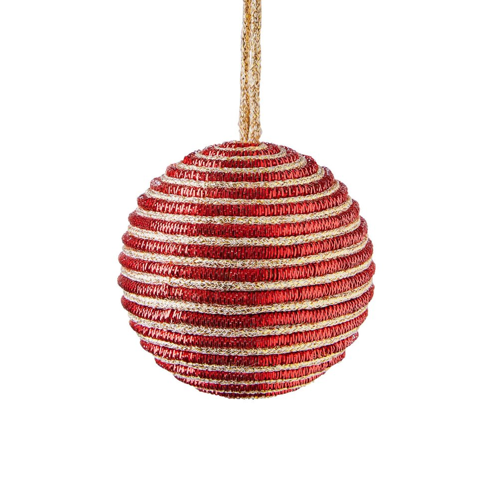 HANG ON Vianočné gule s povrázkom 8 cm set 2 ks
