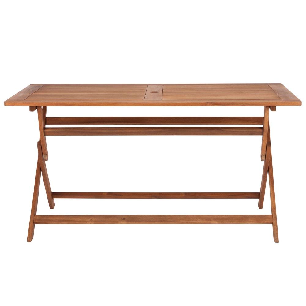 SOMERSET Skladaci stôl s otvorom pre slnečník