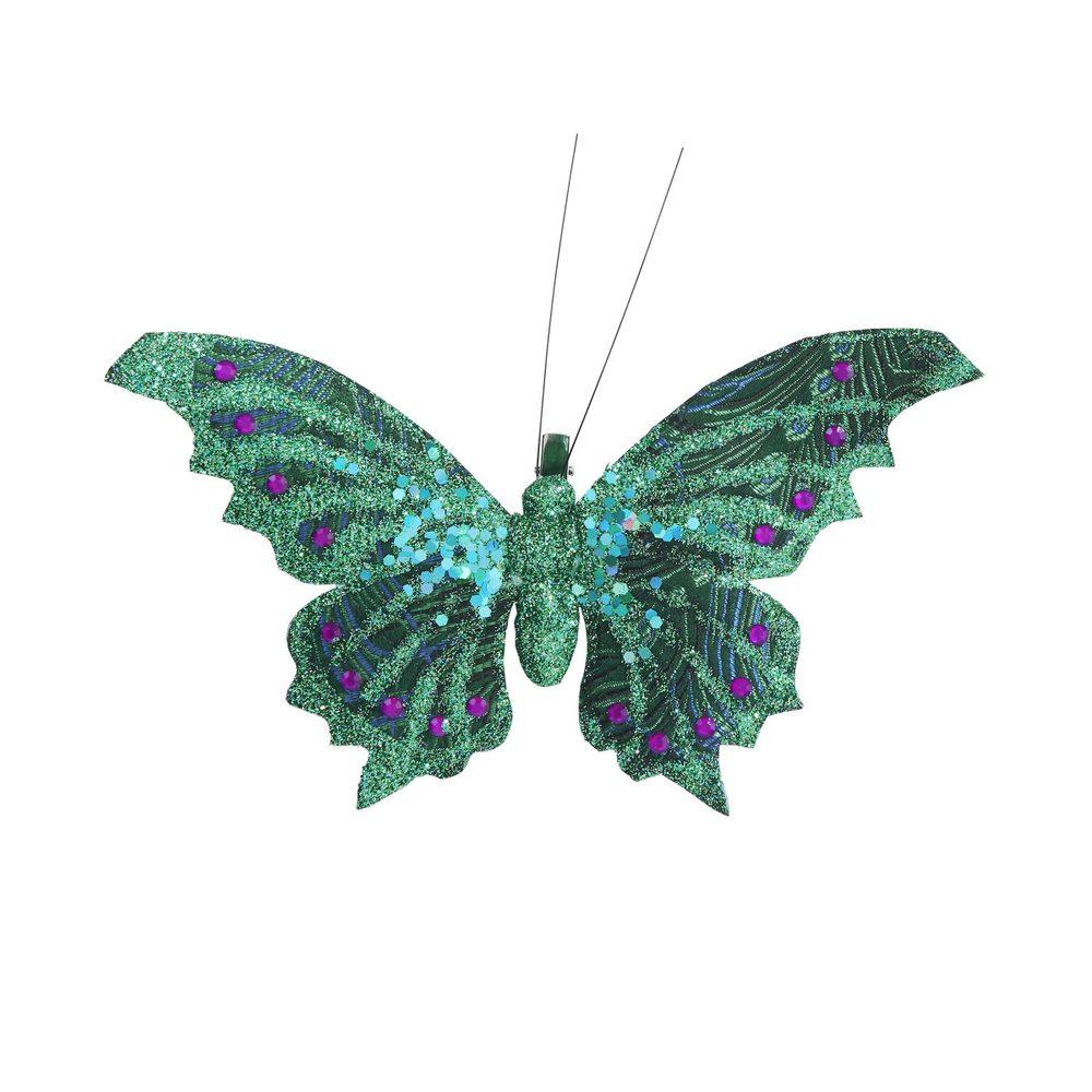 PEACOCK Motýľ s klipom 18 cm