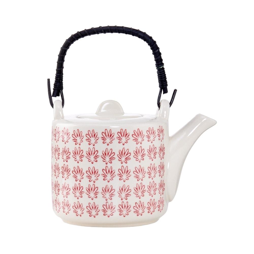 RETRO Kanvička na čaj - červená
