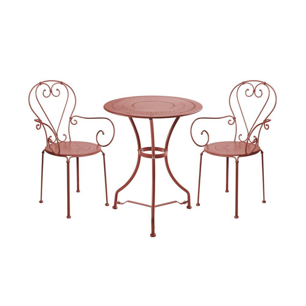 CENTURY Set záhradného nábytku pre 2 osoby - tm. červená