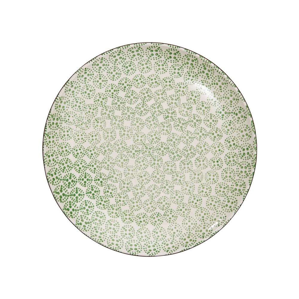 RETRO Jedálenský tanier - zelená