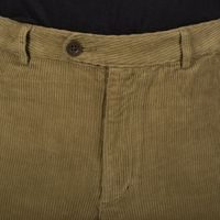 Portuguese Flannel Corduroy Trousers - Olive