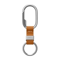 Orbitkey Clip - Tan with White Stitching