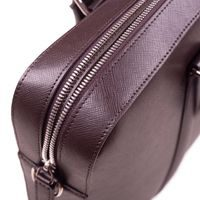 John & Paul Dark Brown Leather Briefcase 2.0