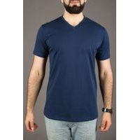 John & Paul Proper T-shirt - Navy (V-neck)