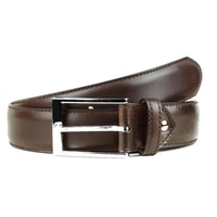 Berwick Coffee Brown Leather Belt
