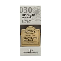 Traveler's Company Brass Clip for Traveler's Notebook w/ logo
