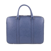 John & Paul Slim Blue Leather Briefcase