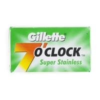 Gillette 7 O'Clock Super Stainless Double Edge Razor Blades (5 pcs)