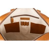 John & Paul Light Brown Vachetta Leather Briefcase
