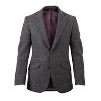Walker Slater Edward Tweed Jacket - Charcoal & Green Windowpane