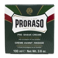 Proraso Green Refreshing Pre-Shave Cream with Eucalyptus (100 ml)