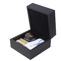 Saphir Medaille d'Or Shoe Cream Polish, Chamois Cloth & Two Brushes Gift Set