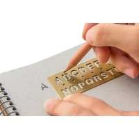 Traveler's Company Brass Template & Bookmark