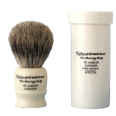 Taylor of Old Bond Street Travel Sized Pure Badger White Shaving Brush