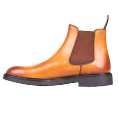 John & Paul Dashing Tan Chelsea Boots