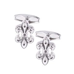House of Amanda Christensen Silver Flowery Cufflinks