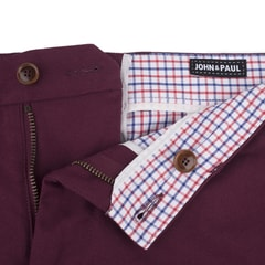 John & Paul Burgundy Chinos
