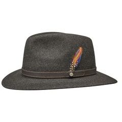 Stetson Brown Powell Traveller Woolfelt Hat