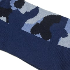 Di Carlo Egyptian Cotton Socks - Blue & Camouflage Pattern