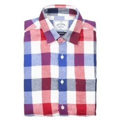 Portuguese Flannel Circus Shirt - Blue-White-Red Checkers