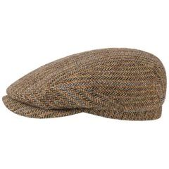 Stetson Hastings Virgin Wool Flat Cap - Brown