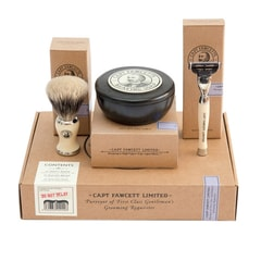 Captain Fawcett Shaving Soap, Brush & Razor Gift Set