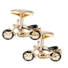 House of Amanda Christensen Gold Motorbike Cufflinks