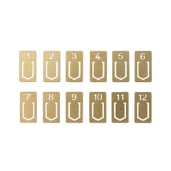 Traveler's Company Numbered Brass Clips