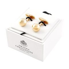 House of Amanda Christensen Gold Round Cufflinks
