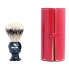 Kent BLK4 Travel Sized Silvertip Badger Shaving Brush