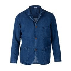 Portuguese Flannel Blue Denim Summer Jacket