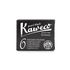 Kaweco Pearl Black Ink Cartridges (6 pcs)