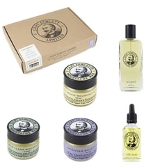 Captain Fawcett Eau de Parfum, Beard Oil & Three Moustache Waxes Gift Set