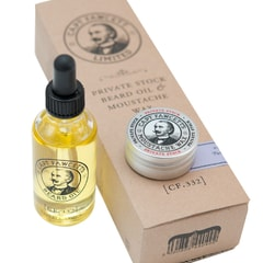 Captain Fawcett Private Stock Wax & Beard Oil Gift Set