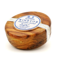 D.R. Harris Windsor Shaving Soap in Dark Wooden Bowl (100 g)