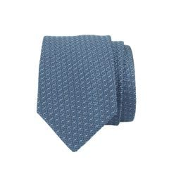 John & Paul Blue Silk Stitched Pattern Necktie
