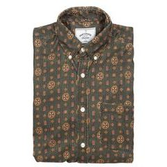 Portuguese Flannel Corduroy Shirt - Jazz Club Green (button-down)