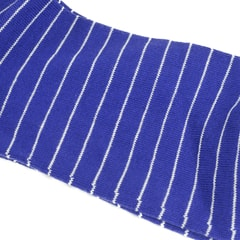 Di Carlo Egyptian Cotton Socks - Blue with White Stripes