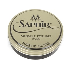 Saphir Mirror Gloss Shoe Wax Polish (75 ml) - Black