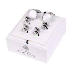House of Amanda Christensen Silver Cufflinks and Studs Set