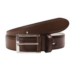 John & Paul Dark Brown Leather Belt