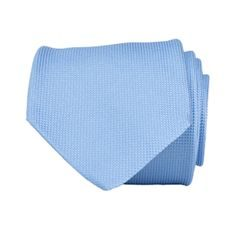 John & Paul Light Blue Silk Necktie