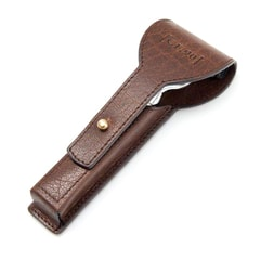Captain Fawcett Mach 3 Razor with Handcrafted Leather Pouch